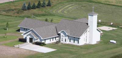 Arial view of Trinity Lutheran Church - McKinley, WI