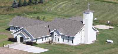 Arial view of the new Trinity Lutheran Church - McKinley